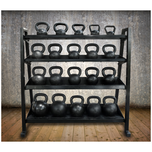 Kettlebell Rack with bells